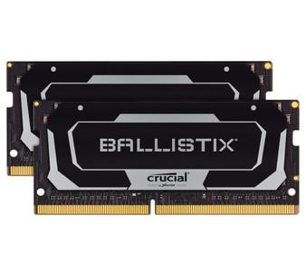 Crucial Ballistix SODIMM 16GB (2x8GB) DDR4 SODIMM 2400MHz CL16 Black Aluminum Heat Spreader Intel XMP2.0 AMD Ryzen Notebook Gaming Memory