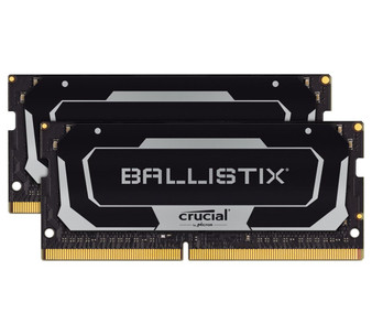 Crucial Ballistix SODIMM 16GB (2x8GB) DDR4 SODIMM 3200MHz CL16 Black Aluminum Heat Spreader Intel XMP2.0 AMD Ryzen Notebook Gaming Memory