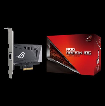 ASUS ROG AREION 10G Superfast 10G speed with backwards compatibility of 5/2.5/1G and 100Mbps; full-sized heatsink and LAN speed indicators