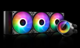 Deepcool CASTLE 360 RGB V2 Intel LGA2066/2011-v3/2011/1151/1150/1155/1366 AMD TRX4 TR4 AM4 AM3+ AM3 AM2+ AM2 FM2+ FM2 FM1