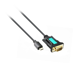 1M USB 3.1 Type-C Male To DB9M Serial Adaptor with FTDI Chipset