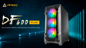 Antec DF600 FLUX High Airflow, ATX, Tempered Glass with 3x ARGB