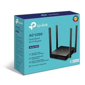 TP-Link Archer C54 AC1200 Dual-Band Wi-Fi Router 2.4GHz 300Mbps 5GHz 8