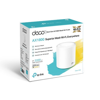 TP-Link DecoDeco X20 (1-pack)AX1800 Whole Home Mesh Wi-Fi 6 System, Up