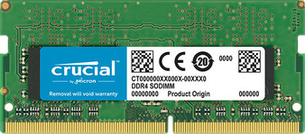 Crucial 16GB (1x16GB) DDR4 SODIMM 2666MHz CL19 Single Ranked Notebook