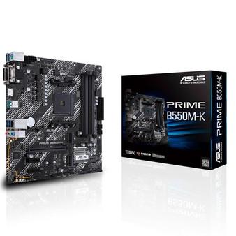 ASUS AMD B550 PRIME B550M-K (Ryzen AM4) mATX MB, Dual M.2, PCIe 4.0, 1