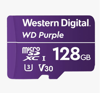 Western Digital WD Purple 128GB MicroSDXC Card 24/7 -25°C to 85°C