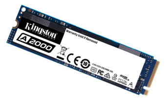 Kingston A2000 500GB M.2 NVMe PCIe SSD - 3D NAND 2000/1100MB/s 150/180