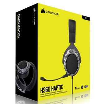 CORSAIR HS60 HAPTIC Stereo Gaming Headset with Haptic Bass - Black wit