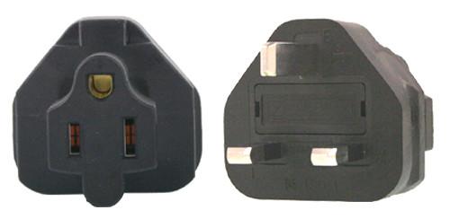US 3 Pin to UK 3 Pin Plug Adapter