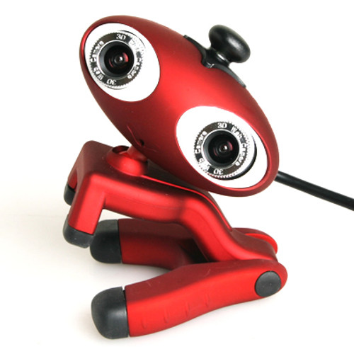 EZCOOL 3D Webcam with Microphone & 2x 3D Glasses for Family & Friends