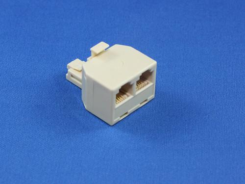 RJ12 Modular Double Adaptor