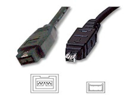2M Firewire 1394B 9Pin/4Pin Cable