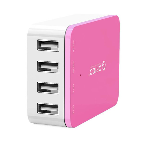 ORICO 4 Port USB Charger Pink