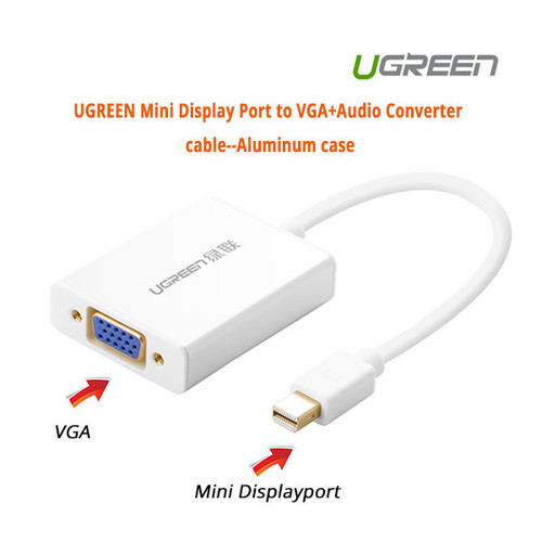 Mini Display Port to VGA+Audio Converter cable--Aluminum case