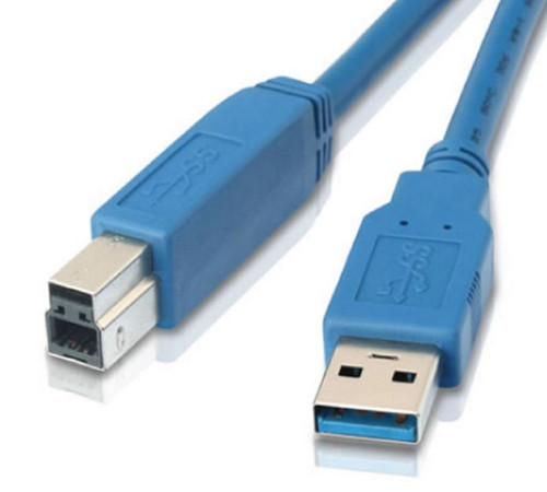 1m USB 3.0 Printer Cable - Type A Male to Type B Male Blue Colour