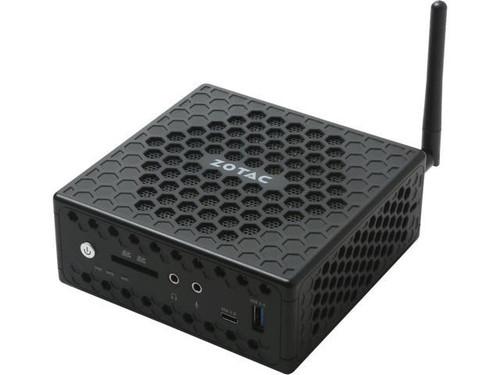 "ZBOX-CI327 Nano Fanless Intel Celeron N3450 Quad Core, Intel HD Graphics 500, Dual Gigabit NIC, WiFi, Bluetooth, 2 USB 2.0, 2 USB 3.0, 1 USB 3.0 Type-C, Card Reader, HDMI+DP+VGA, 2*DDR3 SODIMM, 1*2.5"" SATA, VESA Bracket, 1 x 40W AC Adaptor, Dim: 127.8x127x57mm"