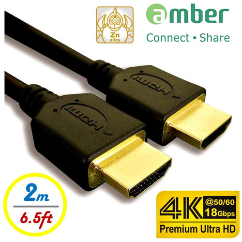 AMBER HDMI-AA120P  HDMI CABLE A-A 2M FOR 4K ULTRA HD