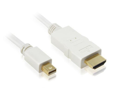 1M Mini DP1.2 to HDMI 4K Cable White
