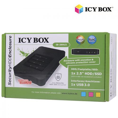 """ICY BOX IB-289U3 - USB 3.0 Keypad encrypted enclosure for 2.5"""" SATA SSD/HDD"""