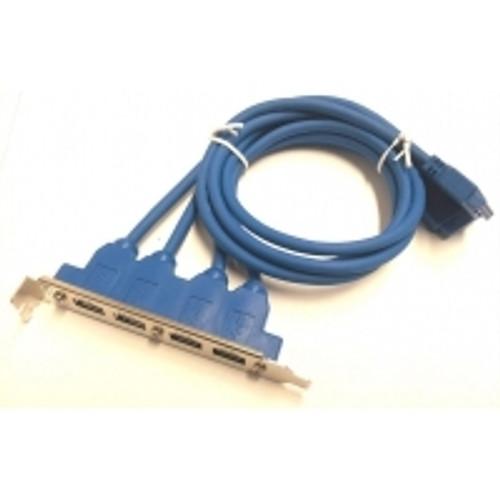 SKYMASTER USB3.0 M/B HEADER PLUG TO EXP SLOT BRACKET 4 PORT