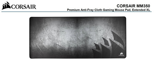 Corsair MM350 Premium Anti-Fray Cloth Gaming Mouse Pad. Extended Extra