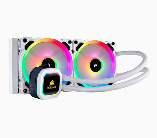 Liquid CPU Cooler: Hydro H100i RGB PLATINUM Snow White Edition, 240mm
