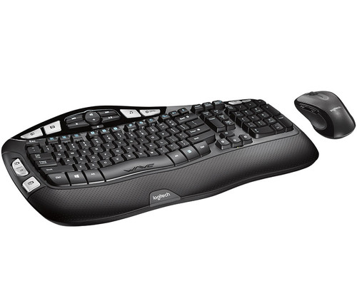 Logitech MK550 Wireless Wave Keyboard Mouse Combo Black Wave-shaped