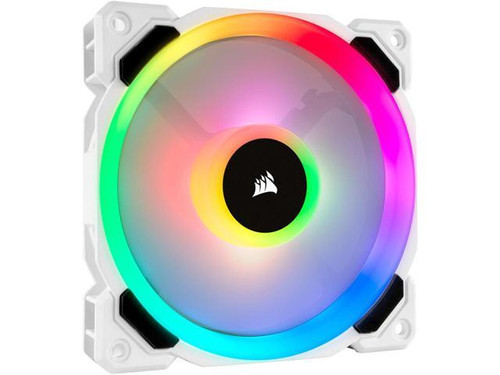 120mm Case Fan : Light Loop Series, White LL120 RGB, 120mm PWM Fan
