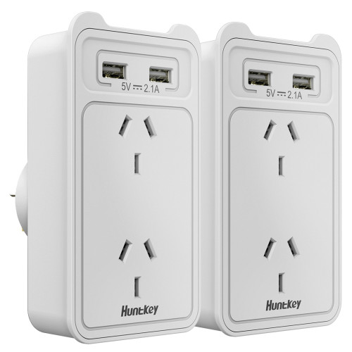 HUNTKEY SAC207 SMART WALL CHARGER (TWIN PACK)