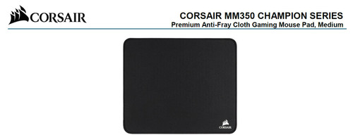 Corsair MM350 Champion Series Medium Anti-Fray Cloth Gaming Mouse Pad.