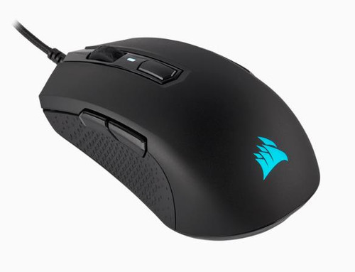 Gaming Mouse: M55 RGB PRO Ambidextrous Multi-Grip Gaming Black Mouse,