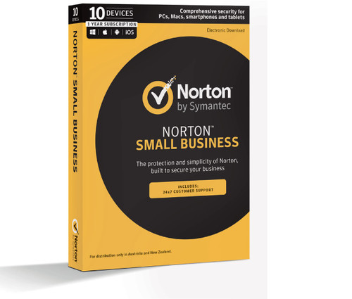 Norton Small Business 10 Device 12 month PC/Android/Mac/iOS