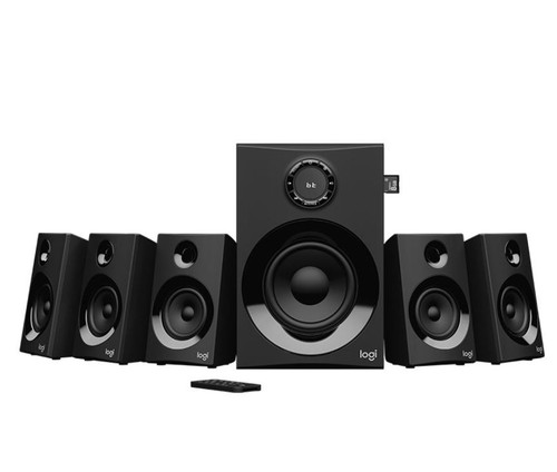 Logitech Z607 5.1 Surround Sound Speakers SD USB FM 160 WATTS 133.35 m