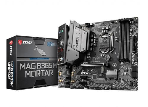 MSI B365M MORTAR mATX Motherboard LGA1151 9Gen 4xDDR4 3xPCI-E, 1xTurbo