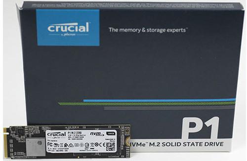 Crucial P1 500GB M.2 (2280) NVMe PCIe SSD - 3D NAND 1900/950 MB/s Acronis True Image Cloning Software 5yrs wty