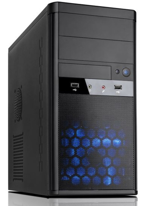 Aywun 208 mATX System Case with 500w PSU. 24PIN ATX, 1x USB3+1x USB2,