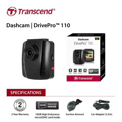 "Transcend 32G DrivePro 110, 2.4"" LCD, with Suction Mount  TS-DP110M-32G"