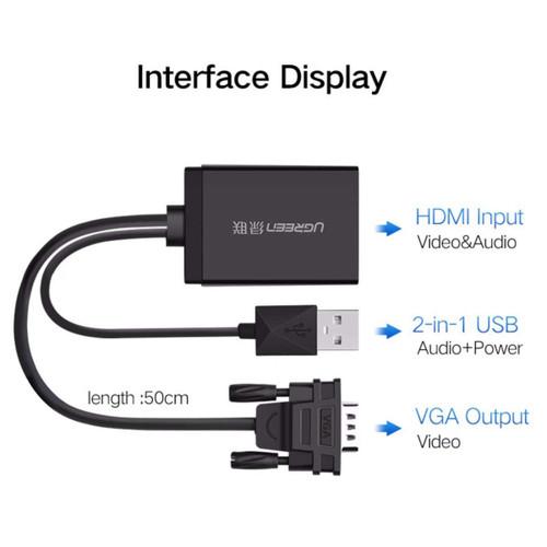 UGREEN VGA to HDMI Converter BLACK 60814