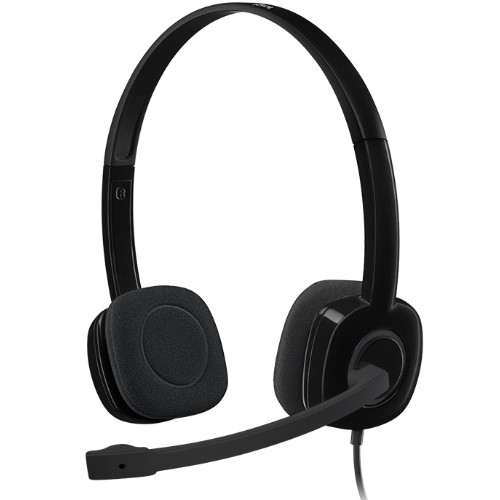 Logitech H151 Stereo Headset Light Weight Adjustable Headphone with Mi