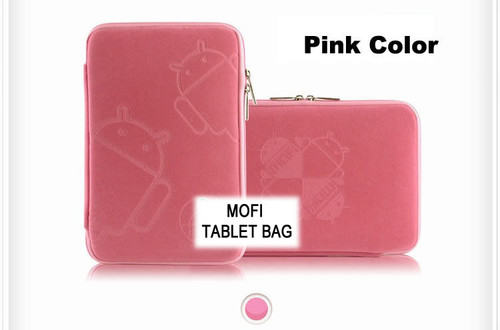 Tablet 10' MofiZip Case Pink Andriod logo. Suit any 10' tab