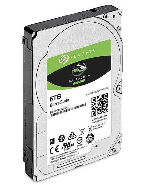 Seagate 5TB 2.5' Barracuda, 5400RPM 15mm 128MB cache Notebook / Laptop