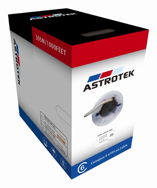 Astrotek CAT6 FTP Cable 305m Roll - Grey White Full 0.55mm Copper