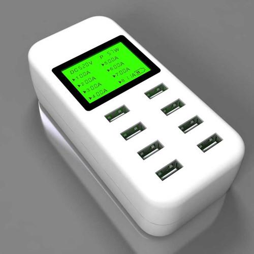 8 port USB Desktop Charger 5V/8A Multi Smart Fast Charging Station