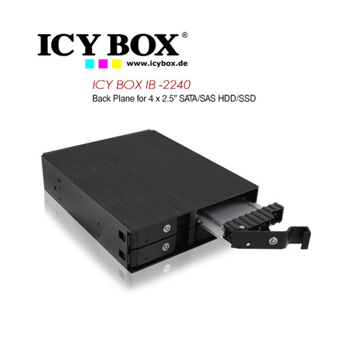 "ICY BOX Backplane for 4x 2.5"" (6.35 cm) SATA / SAS HDDs or SSDs"