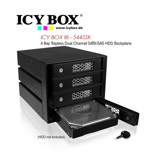 ICY BOX (IB - 544SSK) 4 Bay Trayless Dual Channel SATA/SAS HDD