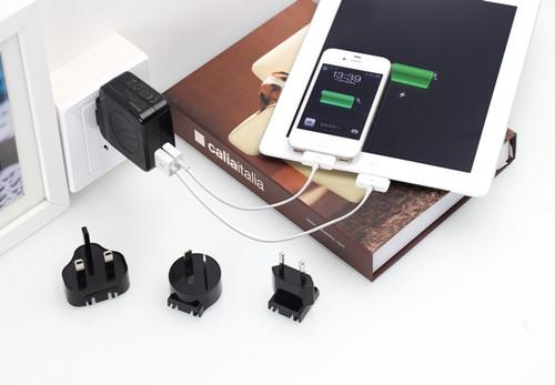 Huntkey TravelMate Multi Plugs USB Wall Charger Adapter 4.2 A US UK EU