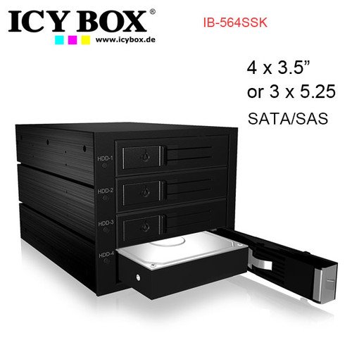 "ICY BOX Backplane for 4x 3.5"" SATA or SAS HDD in 3x 5.25"" bay"