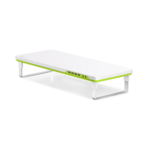 Green M-Desk F1 4 Port USB2 Hub & Monitor Stand