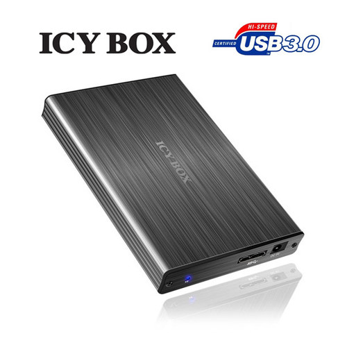 """ICY BOX Particularly elegant aluminum enclosure with USB 3.0 for 2.5"""""""